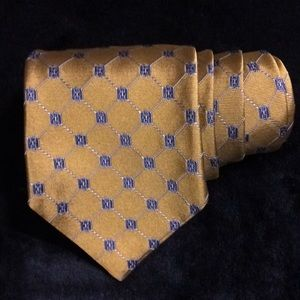 Gold and Blue 346 Brooks Brothers geometric tie